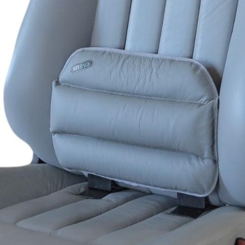 """SITBACK """"Standard"""" Autositz Rückenkissen Leder grau"""