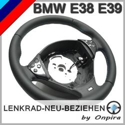 BMW 7er 5er E38 E39 M neu beziehen mit BMW-Automobilleder Daumenauflagen