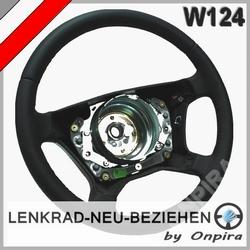 Lederlenkrad neu beziehen Mercedes E-Klasse W124 Automobilleder glatt/perforiert