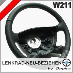 Lenkrad mit Automobil - Leder neu beziehen Mercedes W211 E-Klasse