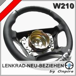 Lenkrad neu beziehen Mercedes E-Klasse W210 Carbon AMG Look Automobilleder