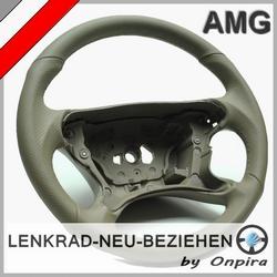 Mercedes AMG C209 W209 CLK 55 63 Leder Lenkrad neu beziehen Color Classic