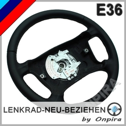 BMW 3er E36 Leder Lenkrad neu beziehen M-Nähte Automobilleder