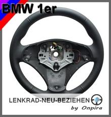 BMW 1er E81 E82 E87 E88 Lenkrad neu mit BMW-Automobilleder beziehen