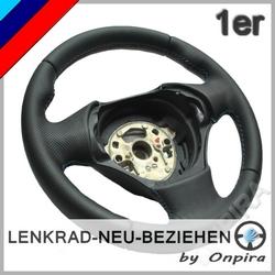 BMW 1er Lenkrad beziehen inkl. Aufpolstern Daumenauflagen M-Nähte