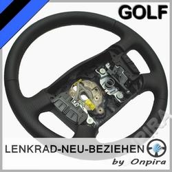 VW Golf 4 IV MFL Lenkrad neu beziehen Automobilleder glatt+perforiert