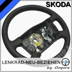 Skoda Superb Octavia MFL Lenkrad neu beziehen Automobilleder