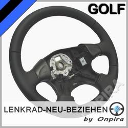 VW Golf III 3 Lenkrad neu beziehen Automobil - Leder glatt/perforiert