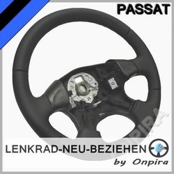 VW Passat 35i Lenkrad neu beziehen Automobil - Leder glatt/perforiert