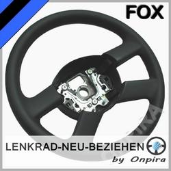 VW Fox Lenkrad neu beziehen Automobil - Leder glatt