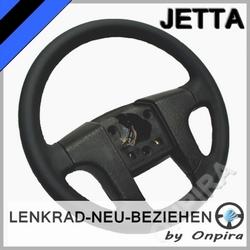 VW Jetta Lenkrad neu beziehen mit Automobil - Leder