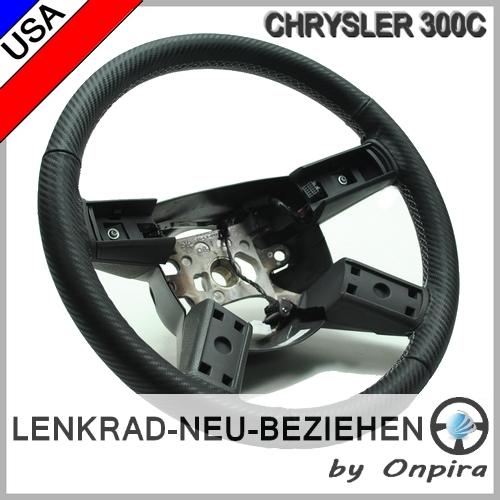 Chrysler 300C 300M Leder Lenkrad neu beziehen inkl. Aufpolsterung