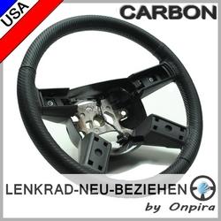 Lenkrad mit Carbon Leder beziehen - Top Sattlerarbeit