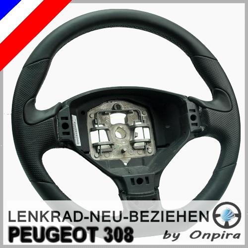 Peugeot 308 Lenkrad mit Leder neu beziehen Lederlenkrad