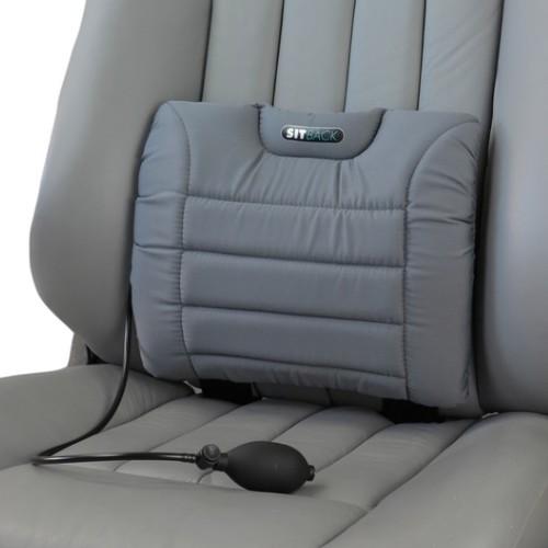 "SITBACK ""AIR"" Autositz Rückenkissen Stoff grau"