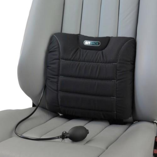 sitback air autositz r ckenkissen stoff schwarz. Black Bedroom Furniture Sets. Home Design Ideas