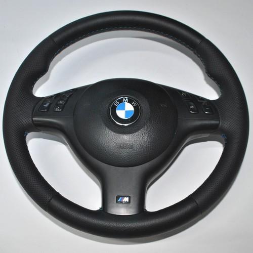 M Lenkrad BMW e39 E34 MFL mit Airbag neu bezogen