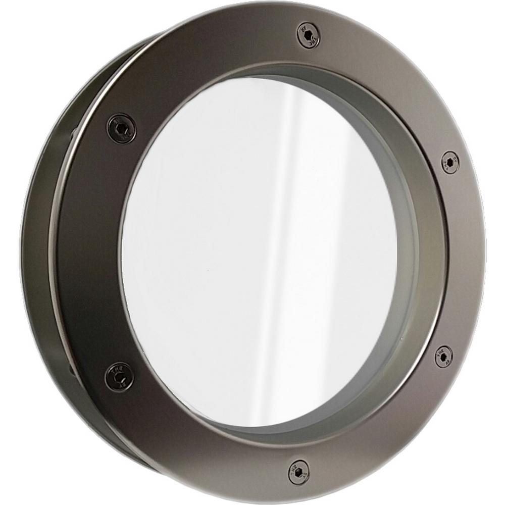 Bullauge von MLS Aluminium Edelstahloptik für Wandstärke 40 +/- 2 mm