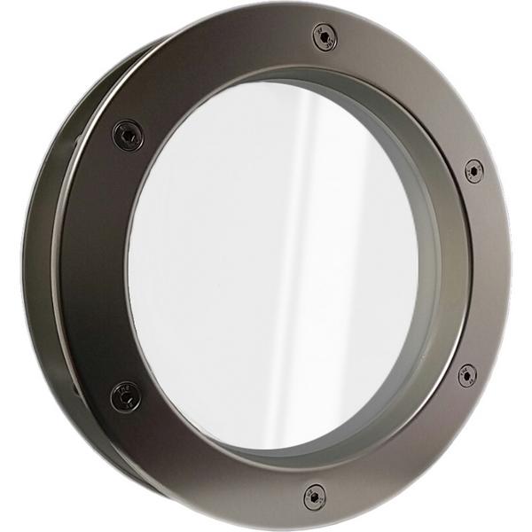 Bullauge Aluminium Edelstahloptik für Wandstärke 40 +/- 2 mm