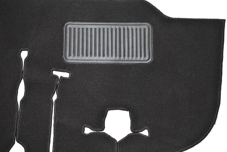 VW T2 Bus Teppich Set Schlingenware schwarz gekettelt (1