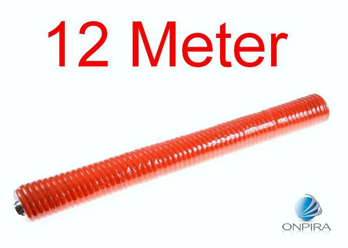12 Meter Druckluftschlauch Spiralschlauch Schnellkupplung Kompressor 5 8 10 15