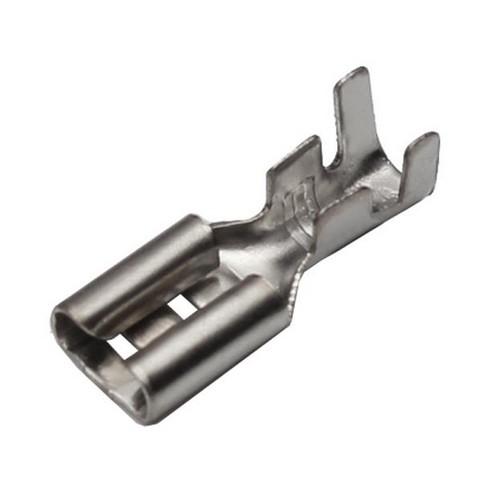 100 Flachsteckhülsen 4,8mm 1,5 - 2,5 mm² Kabelschuh unisoliert ohne Rasternase