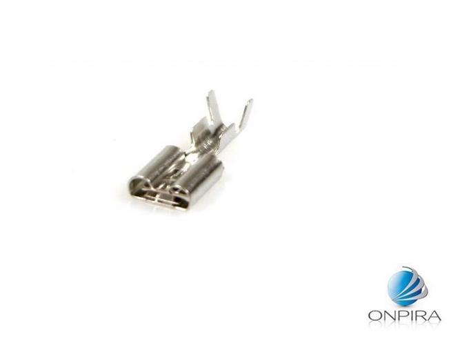 100 Flachsteckhülsen 6,3mm 1,5 - 2,5 mm² Kabelschuh unisoliert ohne Rasternase