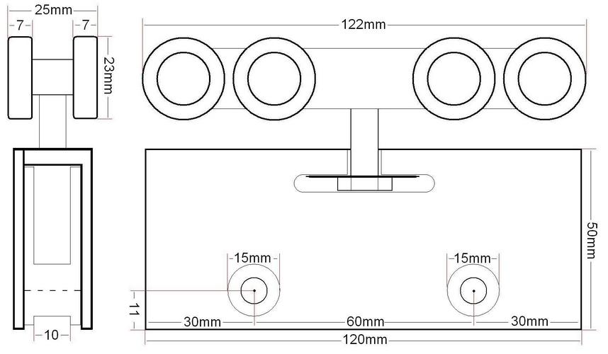 Edelstahl 57mm Griffmulde Griffmuschel Glastürgriff Glastürbeschlag Muschelgriff