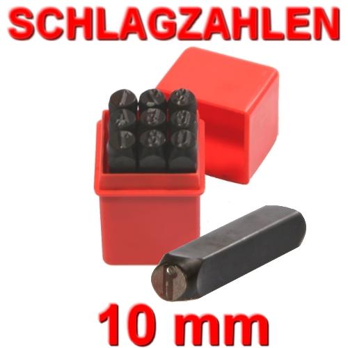 10mm Schlagzahlen (0-9) Schlagstempel Prägestempel