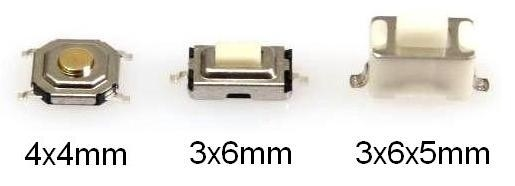 30x SMD SUB Miniatur Taster Sortiment Ersatzteil Fernbedienung Autoradio MP3