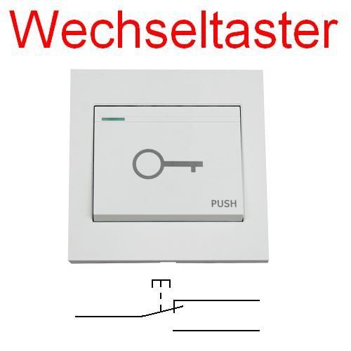 Elektrischer-Tueroeffner-Taster-Aufputz-Unterputz-Schliesser-Schalter