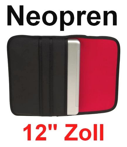 12 zoll notebook tasche case laptop softcase neopren h lle etui 12 1 rot ebay. Black Bedroom Furniture Sets. Home Design Ideas
