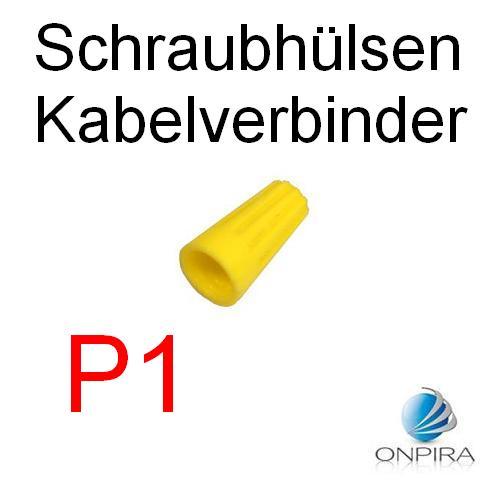 100 Schraubhülsen Kabelverbinder P1 Drehverbinder Schnellverbinder