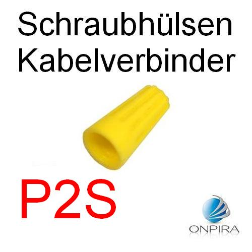 100 Schraubhülsen Kabelverbinder P2S Drehverbinder Schnellverbinder