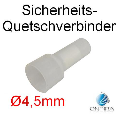 100 Sicherheits Quetschverbinder Ø4,5mm bis 16 mm² Stoßverbinder Kabelschuhe