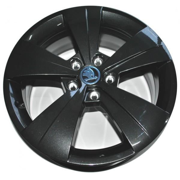 4x Skoda Superb Alufelgen Helios 6,5x17 ET41 Leichtmetallrad 17 Zoll schwarz