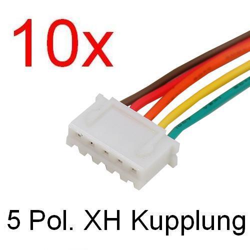 10 st ck 5 pol xh kupplung kabel 5s lipo balancerkabel buchsen stecker ebay. Black Bedroom Furniture Sets. Home Design Ideas