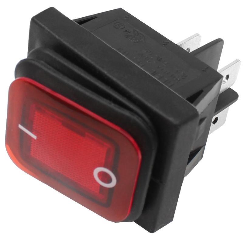 Wippschalter Spritzwassergeschützt Beleuchtet Wippenschalter Schalter 250V 16A