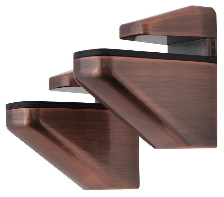 2x Große DESIGN braune Aluminium Regalhalter Regalträger Regal Alu Braun
