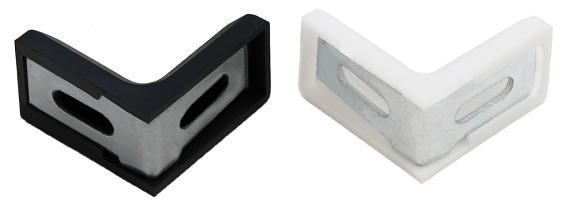 10x Stuhlwinkel 30x30x18mm mit Kunststoff Abdeckung M/öbel Winkel Flachwinkel Wei/ß