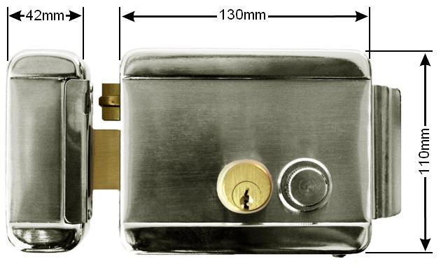elektrischer tor ffner t r ffner kastenschloss t rschloss torschloss bis 100mm. Black Bedroom Furniture Sets. Home Design Ideas