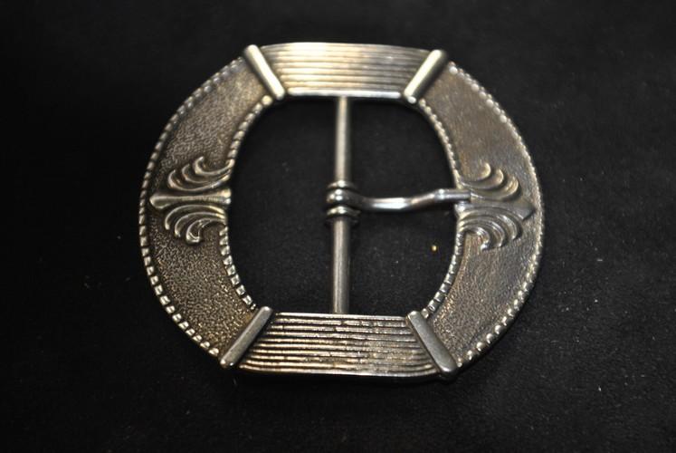 5 Gürtel Schnalle Schließe silber für 40 mm Gürtel Buckle Ledergurt Gotik