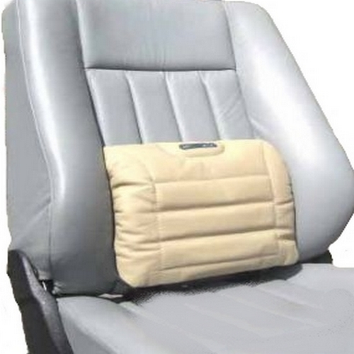 SITBACK Autositz Rückenkissen Lordosenkissen Leder beige