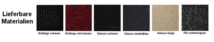 Opel Manta A Auto Teppich komplettes Set Velours schwarz