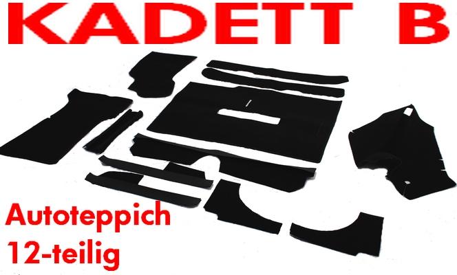 Opel Kadett B Auto Teppich komplett 12teilig