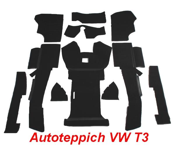 VW T3 Bus Auto Teppich komplettes Set Schlingenware