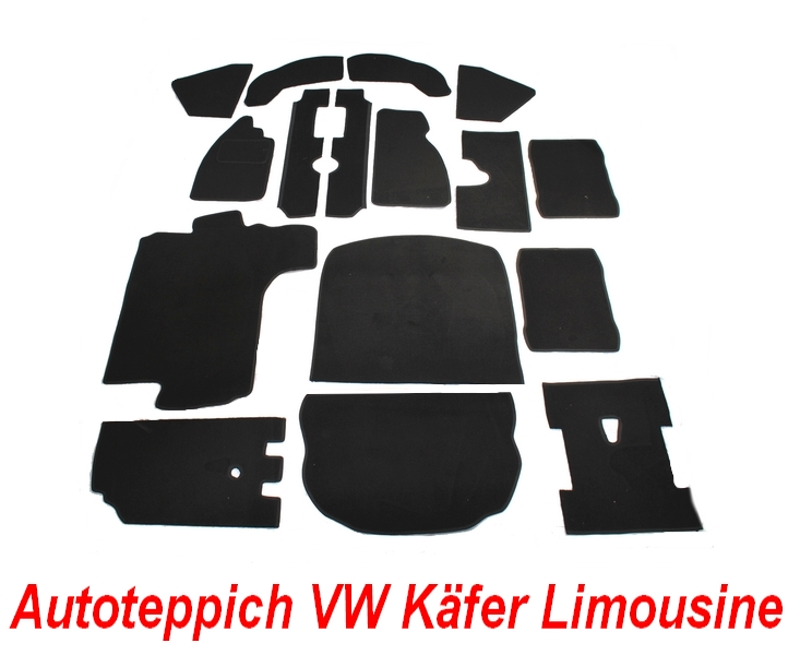 VW Käfer Limo 1303 Auto Teppich komplettes Set in Velours