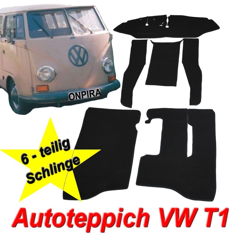 VW T1 Bus hochwertiger Auto Teppich Set Schlingenware