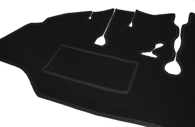 VW T1 Bus hochwertiger Auto Teppich Set Velours schwarz