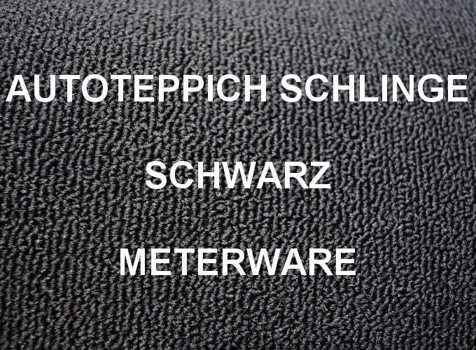Autoteppich Meterware Schlinge schwarz für Young und